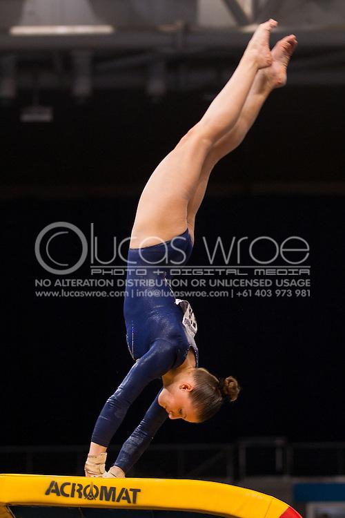 Vault, May 24, 2014 - GYMNASTICS : Australian National Gymnastics Championships, Hisense Arena, Melbourne, Victoria, Australia. Credit: Lucas Wroe / Winkipop Media