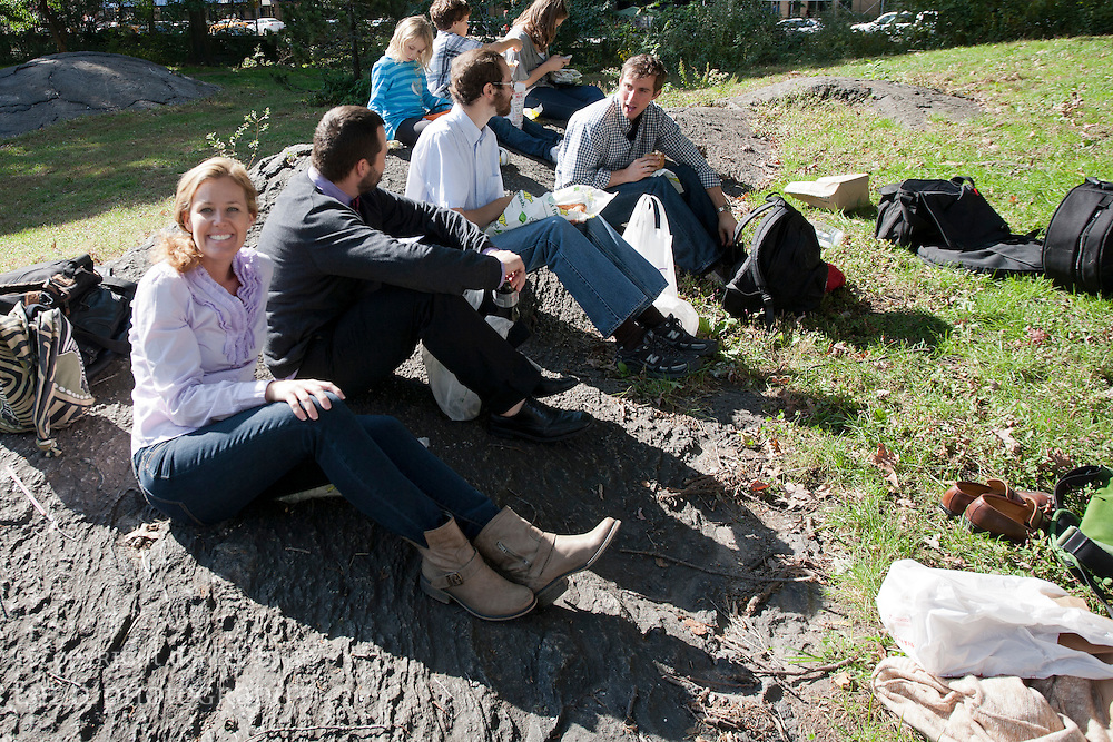 Sukkot picnic in Central Park with parishioners from Trinity Grace Church Westside on 16 October 2011