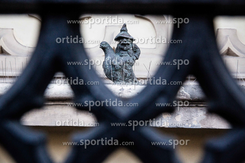 Dwarfs in City centre of Wroclaw, on January 19, 2016 in Wroclaw, Poland. Photo by Vid Ponikvar / Sportida