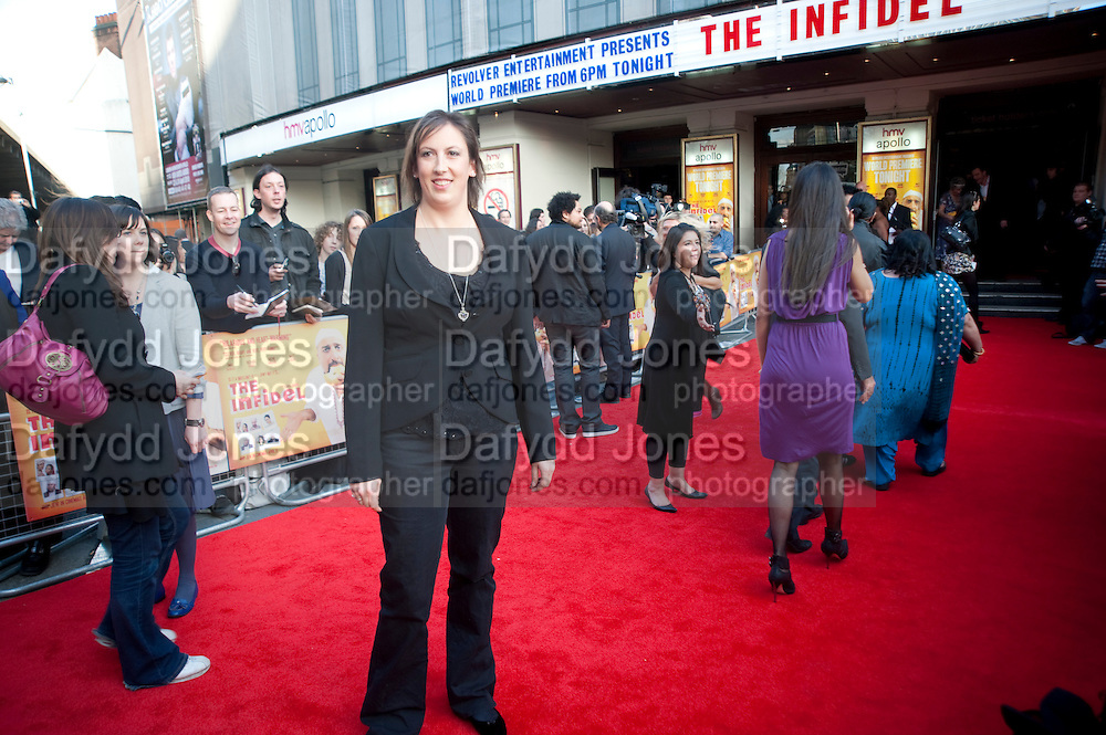 MIRANDA HART, The Infidel premiere. Apollo theatre, Hammersmith. London. 8 April 2010