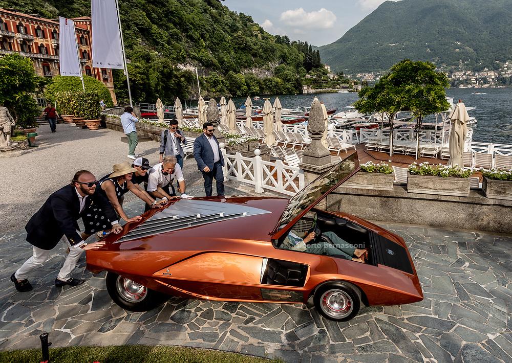 Como, Italy, Concorso d'Eleganza Villa D'Este, Lancia Stratos, entrant Philip Sarofim
