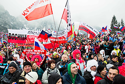 Polish fans during Ski Flying Individual Competition at Day 4 of FIS World Cup Ski Jumping Final, on March 22, 2015 in Planica, Slovenia. Photo by Vid Ponikvar / Sportida