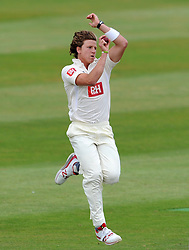 Sussex's Matthew Hobden - Photo mandatory by-line: Harry Trump/JMP - Mobile: 07966 386802 - 06/07/15 - SPORT - CRICKET - LVCC - County Championship Division One - Somerset v Sussex- Day Two - The County Ground, Taunton, England.