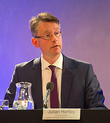© Licensed to London News Pictures. 26/06/2014. LONDON. Julian Hartley, Chief Executive, Leeds Teaching Hospitals NHS Trust. The Lampard Report Press Conference.  An independent oversight of NHS and Department of Health investigations into matters relating to Jimmy Savile. Photo credit : Graham Eva/LNP