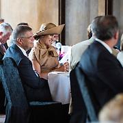 NLD/Amsterdam/20140523 - Koningin Maxima aanwezig bij Cordaid lunch voor stille helpers , Koningin Maxima en Ernst Hirsch Ballin