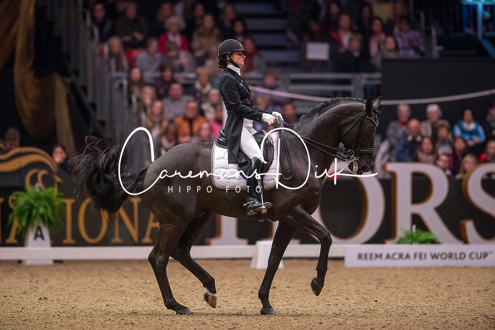 Telde Mina (SWE) - Santana<br /> Kur - Reem Acra FEI World Cup Dressage Qualifier - The London International Horse Show Olympia - London 2012<br /> © Hippo Foto - Jon Stroud