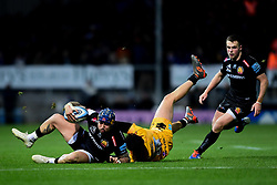 Jack Nowell of Exeter Chiefs is marked by Jacob Umaga of Wasps - Mandatory by-line: Ryan Hiscott/JMP - 30/11/2019 - RUGBY - Sandy Park - Exeter, England - Exeter Chiefs v Wasps - Gallagher Premiership Rugby