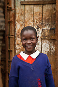 Nairobi, June 2010 -  this girl lives at the St. Catherine's children's home in Kibera slum. She was asked to be in the photo of the front of the home by the directors  Of the home.
