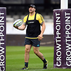 DURBAN, SOUTH AFRICA - MAY 06: Jeffery Toomaga-Allen during the Hurricanes Captains run at Growthpoint Kings Park on May 06, 2016 in Durban, South Africa. (Photo by Steve Haag/Gallo Images)
