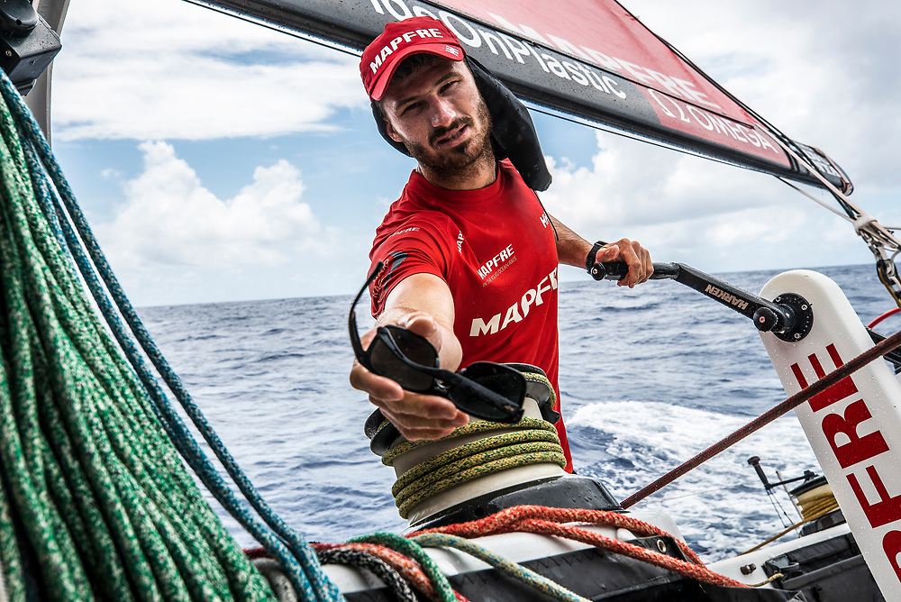 Leg 6 to Auckland, day 18 on board MAPFRE. 24 February, 2018.