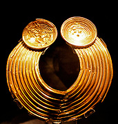 Celtic. Collar known as The Shannongrove Gorget, maker unknown, late Bronze Age (probably 800-700 BC).