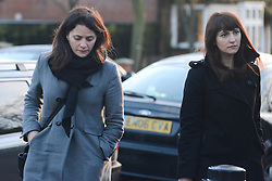 Grillo Sisters Isleworth Crown Court. Elisabetta Grillo (L) and Francesca Grillo (in dark jacket), former personal assistants to Charles Saatchi and Nigella Lawson arrive with lawyer Victoria Gregory(R) at Isleworth Crown Court in London. The pair, who face fraud charges, are accused of misappropriating funds while working for Lawson and Saatchi. Isleworth Crown Court, London, United Kingdom. Thursday, 19th December 2013. Picture by Peter Kollanyi / i-Images<br />