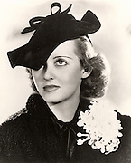 Bette Davis (1908-1989)  American Hollywood actress and film star. Photograph.