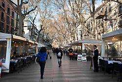 December 14, 2016 - Barcelona, Barcelona, España - Las Ramblas, Barcelona, Catalonia, Spain. (Credit Image: © Sergi Reboredo via ZUMA Wire)