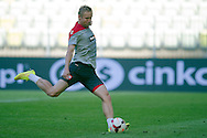 Poland's Kamil Glik while official training one day before international friendly match between Poland and Lithuania at PGE Arena in Gdansk, Poland.<br /> <br /> Poland, Gdansk, June 05, 2014<br /> <br /> Picture also available in RAW (NEF) or TIFF format on special request.<br /> <br /> For editorial use only. Any commercial or promotional use requires permission.<br /> <br /> Mandatory credit:<br /> Photo by © Adam Nurkiewicz / Mediasport
