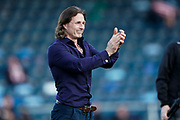 Wycombe Wanderers Manager Gareth Ainsworth applauds the fans at the end of the match following their 1-0 win over Sunderland at the EFL Sky Bet League 1 match between Wycombe Wanderers and Sunderland at Adams Park, High Wycombe, England on 19 October 2019.