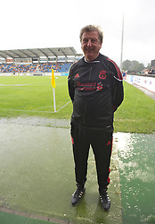 ALTACH, AUSTRIA - Saturday, July 17, 2010: Liverpool's manager Roy Hodgson before the Reds' first preseason match of the 2010/2011 season at the Cashpoint Arena. (Pic by David Rawcliffe/Propaganda)
