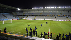 November 28, 2018 - Malmo, SWEDEN - Illustration picture shows the Malmo stadium during the training session of Belgian soccer team KRC Genk in Malmo, Sweden, Wednesday 28 November 2018. Genk will meet Swedish club Malmo on the fifth day of the UEFA Europa League group stage, in group I. BELGA PHOTO YORICK JANSENS (Credit Image: © Yorick Jansens/Belga via ZUMA Press)