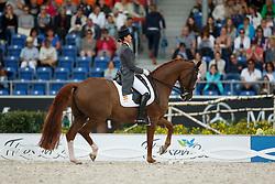 Ferrer-Salat Beatriz, (ESP), Delgado<br /> Grand Prix Special<br /> European Championships - Aachen 2015<br /> © Hippo Foto - Dirk Caremans<br /> 15/08/15