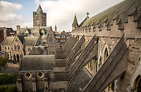 Dublin, Ireland - September 16, 2014: Overlooking the flying buttresses at Christ Church Cathedral. Located in what was the heart of medieval Dublin, the church has been witness to much of the city's history since it's founding in 1030.  CREDIT: Chris Carmichael for the New York Times