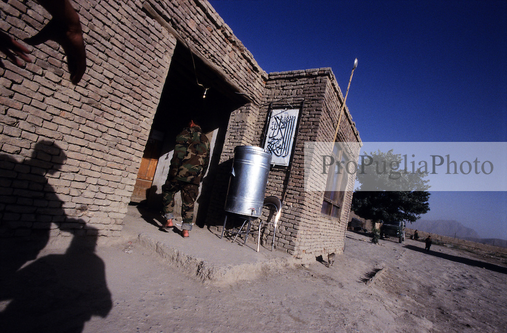 Kabul, 25 July 2005..Afghan soldiers's place.