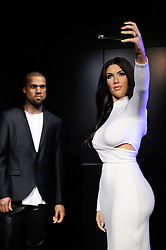 Kanye West and Kim Kardashian's wax figures featured at Madame Tussauds (with her wedding ring) in London, England on October 9, 2016. Photo by Aurore Marechal/ABACAPRESS.COM