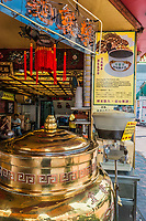 Kowloon, Hong Kong, China- June 9, 2014: seafood restaurants in the Temple street market Tsim Sha Tsui