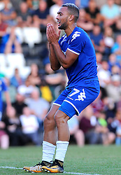 Kemar Roofe of Leeds United shows a look of dejection as he misses a chance to score - Mandatory by-line: Nizaam Jones/JMP- 17/07/2018 - FOOTBALL - New Lawn Stadium - Nailsworth, England - Forest Green Rovers v Leeds United - Pre-season friendly