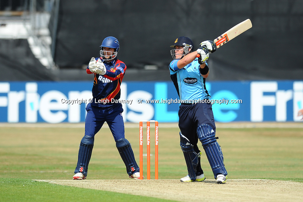 "Matt Machan of Sussex scores 50 runs during the Friends Life T20 between Essex ""Eagles"" v Sussex ""Sharks"" at the Essex County Cricket Ground on the 14th July 2013. Credit: © Leigh Dawney Photography. Self Billing where applicable. Tel: 07812 790920"