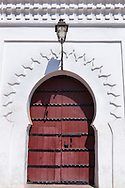 Wooden door of the Koutoubia mosque in Marrakech.
