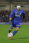 Sean Rigg forward for AFC Wimbledon (11) during Sky Bet League 2 Play-Off first leg match between AFC Wimbledon and Accrington Stanley at the Cherry Red Records Stadium, Kingston, England on 14 May 2016. Photo by Stuart Butcher.