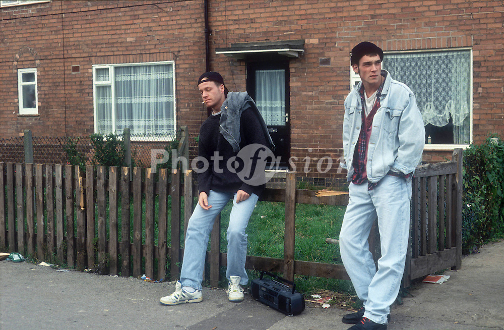 Two youths loitering on housing estate,