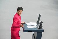 21 MAR 2019, BERLIN/GERMANY:<br /> Sahra Wagenknecht, Die Linke Fraktionsvorsitzende, haelt eine Rede, Bundestagsdebatte zur Regierungserklaerung der Bundeskanzlerin zum Europaeischen Rat, Plenum, Deutscher Bundestag<br /> IMAGE: 20190321-01-094