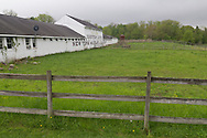 Cornwall-on-Hudson, New York - A view of the stables on the campus of New York Military Academy on May 15, 2014. NYMA is a college preparatory military co-educational boarding and day school for students in grades 7-12.