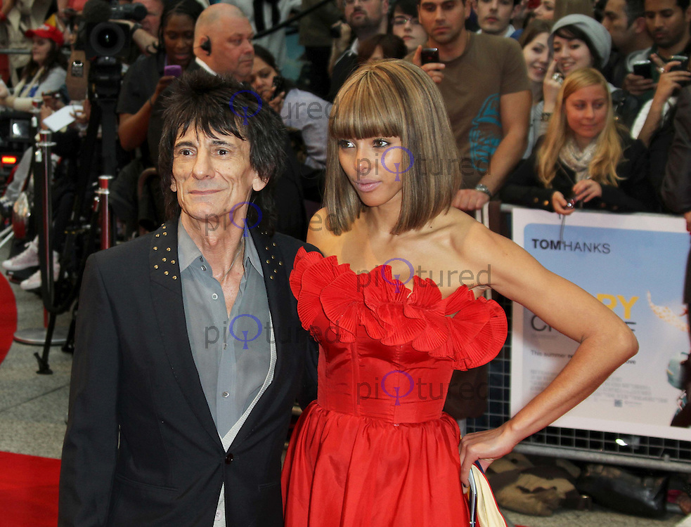 Ronnie Wood; Ana Araujo Larry Crowne World Premiere, Westfield Shopping Centre, West London, UK, 06 June 2011:  Contact: Rich@Piqtured.com +44(0)7941 079620 (Picture by Richard Goldschmidt)