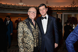 Left to right, JOHN CAUDWELL and the HON.ALEXANDER SPENCER-CHURCHILL at a birthday dinner for Claire Caudwell for family & friends held at The Dorchester, Park Lane, London on 24th January 2014.