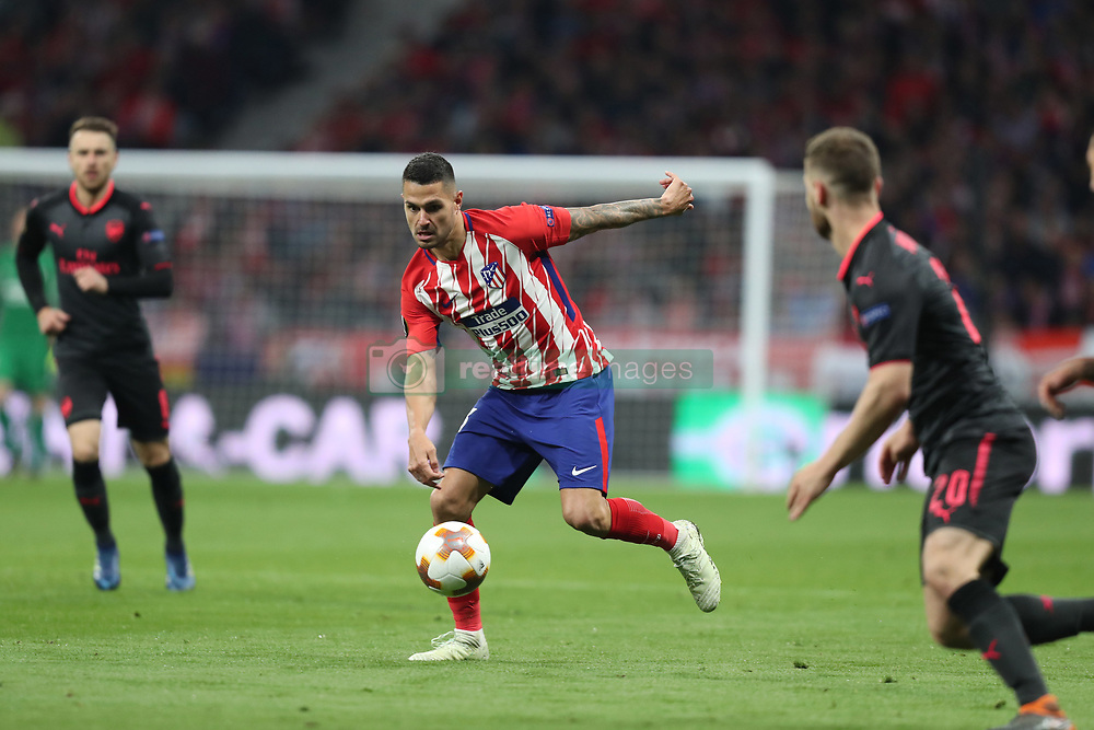 May 3, 2018 - Madrid, Spain - VITOLO of Atletico de Madrid during the UEFA Europa League, semi final, 2nd leg football match between Atletico de Madrid and Arsenal FC on May 3, 2018 at Metropolitano stadium in Madrid, Spain (Credit Image: © Manuel Blondeau via ZUMA Wire)