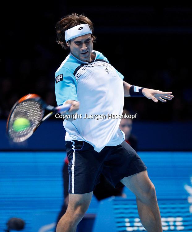 ATP World Tour Finals  2010 in der O2 Arena in London, HerrenTennis Turnier, WM, Weltmeisterschaft, David Ferrer (ESP),