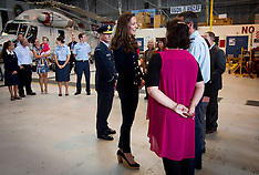 Auckland-Royal Visit, Duke and Duchess meet Air Force Base staff