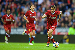 WIGAN, ENGLAND - Friday, July 14, 2017: Liverpool's Philippe Coutinho Correia in action against Wigan Athletic during a preseason friendly match at the DW Stadium. (Pic by David Rawcliffe/Propaganda)