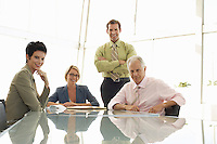 Four Businesspeople in Meeting