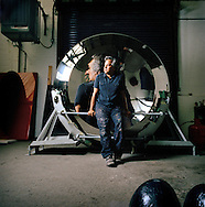 UK. London. Artist Anish Kapoor, who is working on a mammoth stainless steel sculptural piece that will be mounted in the Rockefeller Center in New York in September, photographed in his studio in Camberwell, south London..Photo©Steve Forrest/Workers Photos.