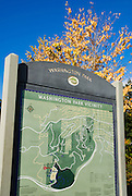 Washington Park map and fall color, Portland, Oregon