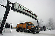 22 Jan 2005:Snow removal crews during a storm the Saturday before the Philadelphia Eagles vs Atlanta Falcons  NFC Championship Game at Lincoln Financial Field in Philadelphia, PA. <br /> <br /> <br /> <br /> Mandatory Credit:Todd Bauders/ContrastPhotography.com