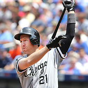 NEW YORK, NEW YORK - June 01:  Todd Frazier #21 of the Chicago White Sox preparing to bat during the Chicago White Sox  Vs New York Mets regular season MLB game at Citi Field on June 01, 2016 in New York City. (Photo by Tim Clayton/Corbis via Getty Images)