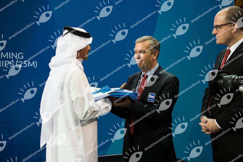Closing Ceremony<br /> Doha Qatar 07-12-2014 Hamad Aquatic Centre, 12th FINA World Swimming Championships (25m). Nuoto Campionati mondiali di nuoto in vasca corta.<br /> Photo Giorgio Scala/Deepbluemedia/Insidefoto