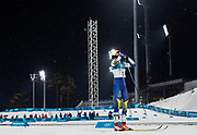 PYEONGCHANG-GUN, SOUTH KOREA - FEBRUARY 13: Stina Nilsson of Sweden celebrates after the victory during the Womens Individual Sprint Classic Finals on day four of the PyeongChang 2018 Winter Olympic Games at Alpensia Cross-Country Skiing Centre on February 13, 2018 in Pyeongchang-gun, South Korea. Photo by Nils Petter Nilsson/Ombrello               ***BETALBILD***