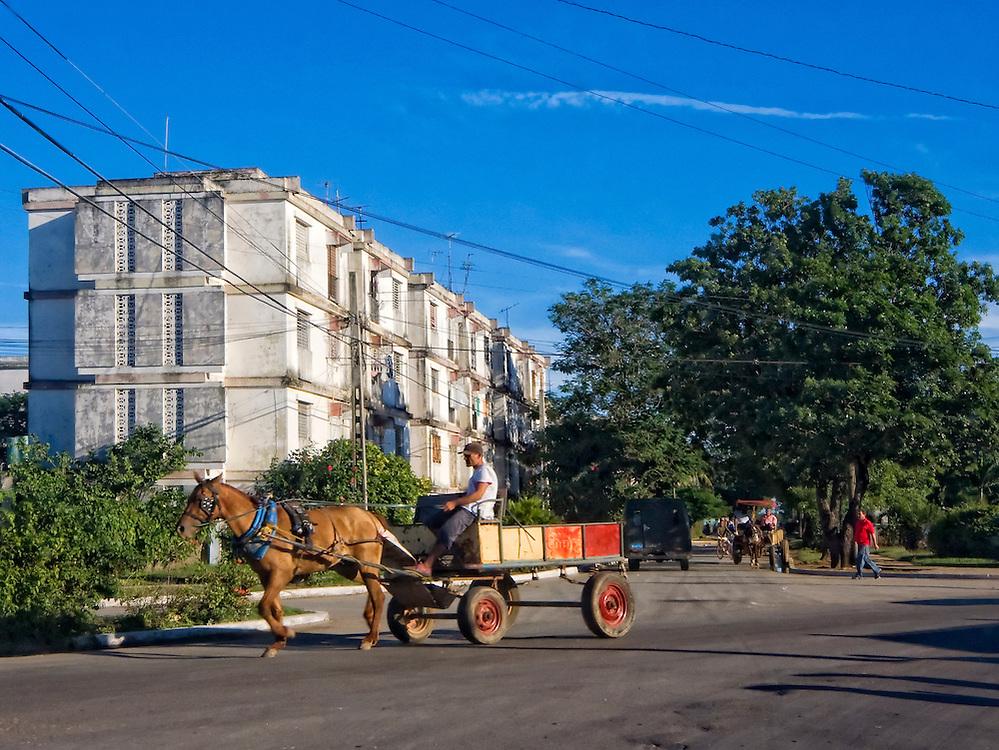 Horse and wagon in Cardenas, Matanzas, Cuba.
