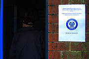 Welcome to Gillingham fans during the EFL Sky Bet League 1 match between Rochdale and Gillingham at Spotland, Rochdale, England on 15 September 2018.