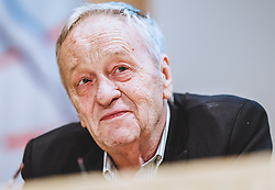 23.10.2018, Olympia Kongress Zentrum, Seefeld, AUT, Forum Nordicum 2018, im Bild Gian Franco Kasper (FIS Praesident) // FIS President Gian Franco Kasper during the Forum Nordicum 2018 at the Olympic Congress Center in Seefeld, Austria on 2018/10/23. EXPA Pictures © 2018, PhotoCredit: EXPA/ JFK